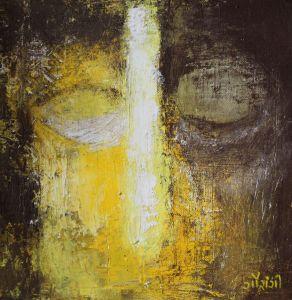 Title: Allow yourself the liberty Medium: Acrylic on canvas Size: 10*10 inches / 25.4*25.4 cm (2018) Artist: gaurangi mehta shah