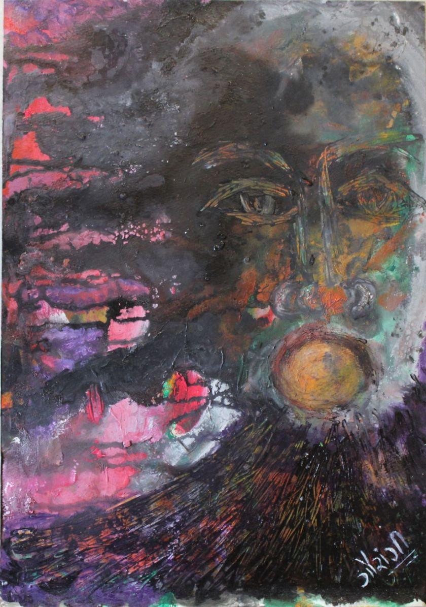 Title: I am human Medium: Acrylic on watercolour paper Size: 11.7*16.5 inches (2017) Artist: gaurangi mehta shah