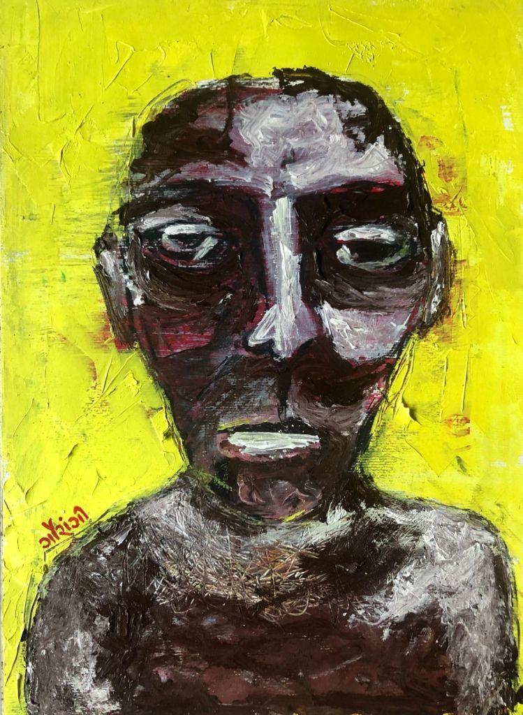 Title: stiffness. Medium: acrylic on watercolour paper. Size: 11.7 *16.5 inches (2020). Artist: gaurangi mehta shah