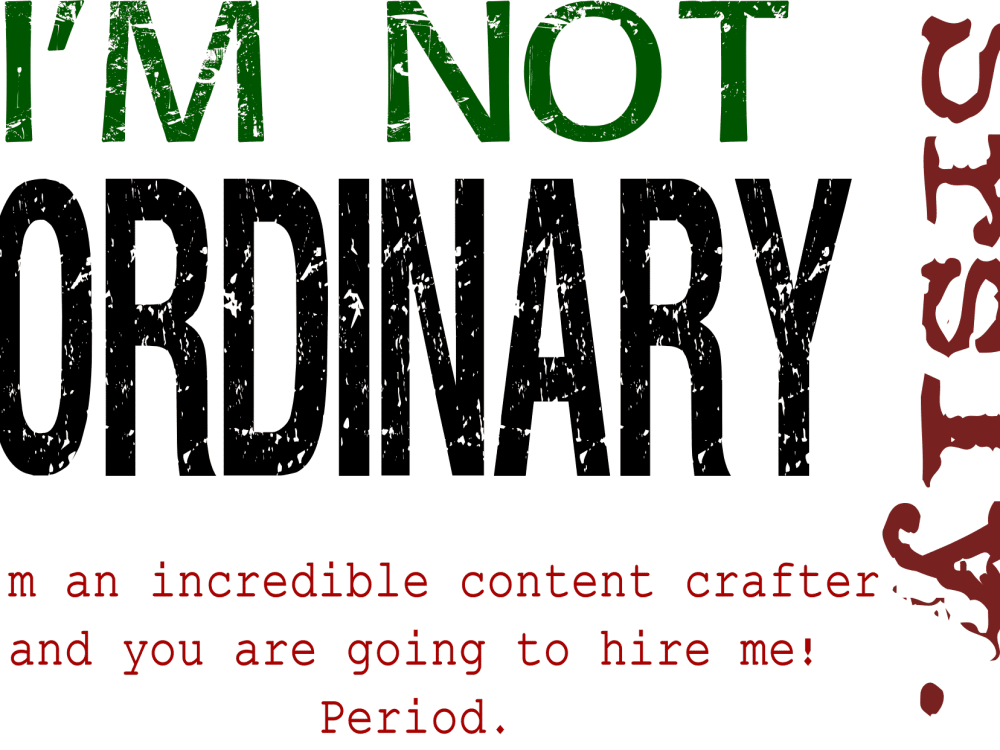 i am not ordinary