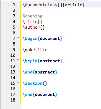 simple structure of a tex article