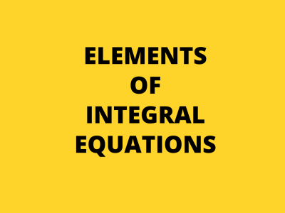 elements of integral equations cover