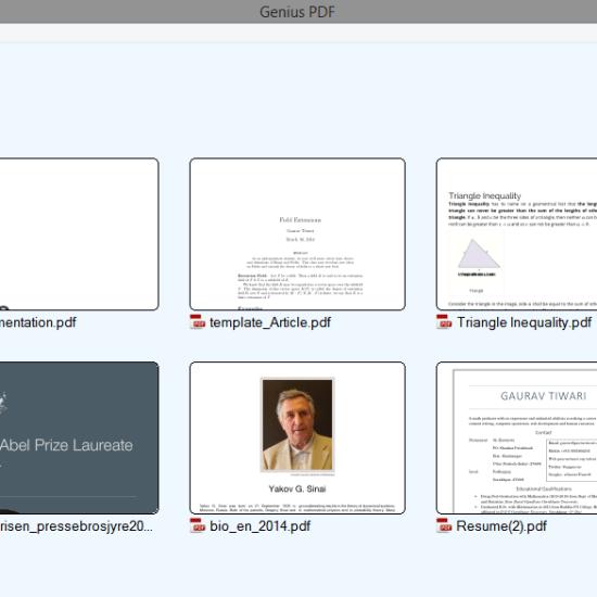 genius pdf home
