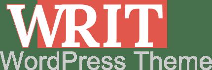 writ wordpress theme logo