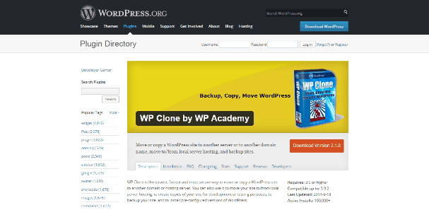 WP Clone by WP Academy