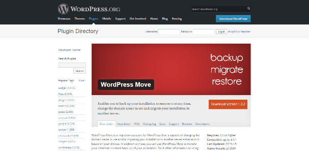 WordPress Move