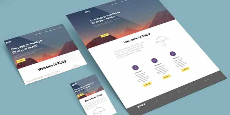 perspective website multi screen mockup