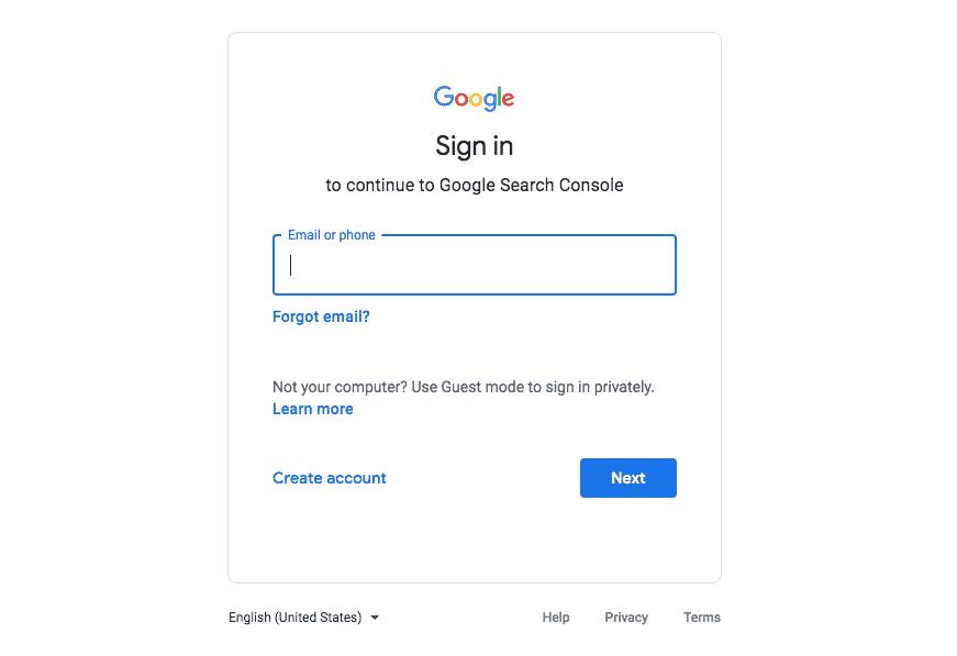 Google Search Console Setup Step 1