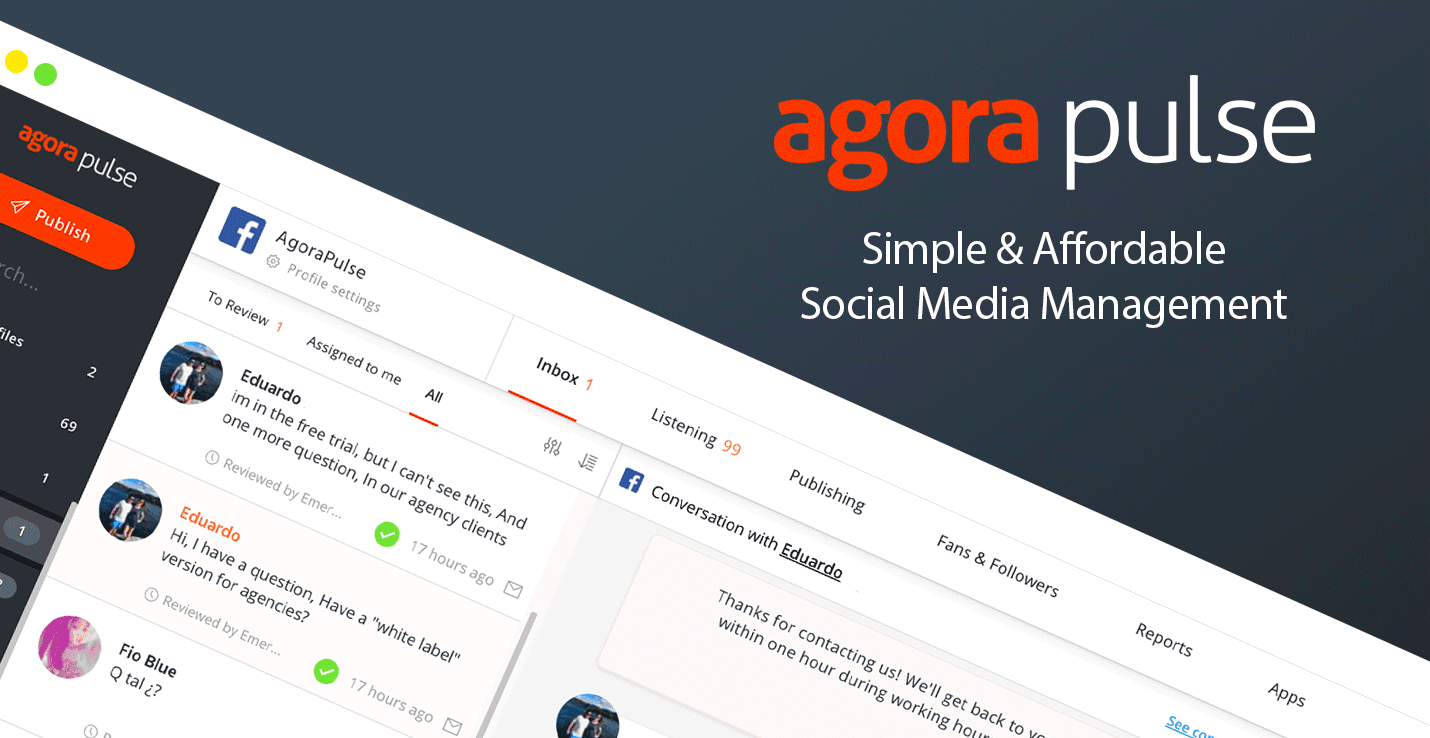 Agora Pulse #1 of the Social Automation Tools