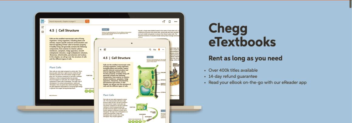 Chegg eTextbooks section