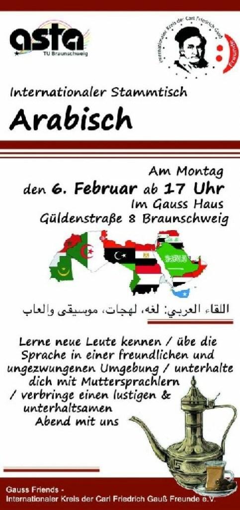 Regular's table: Arabic – Gauss-Friends org