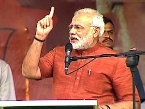 भारतीय जतना पार्टी के प्रधानमन्त्री पद के प्रत्याशी नरेंद्र मोदी
