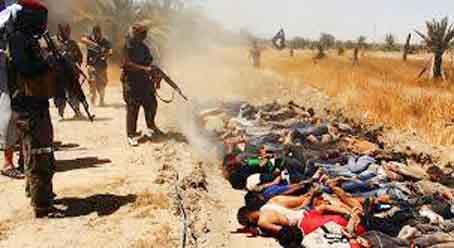 सुन्नी विद्रोहियों ने 1700 इराकी सैनिकों को मौत के घाट उतारा