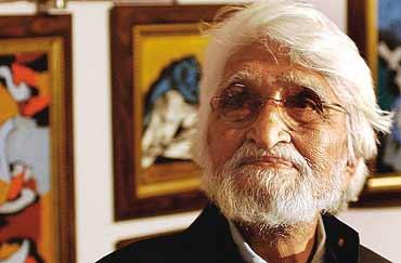 लंदन में निर्वासित जीवन बिता कर दुनिया को अलविदा कह चुके भारतीय चित्रकार एम.एफ.हुसैन।