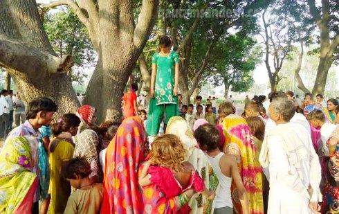 कटरा सआदत गंज की घटना का फाइल फोटो।