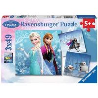 Puslespill, Disney Frozen, Winter Adventure, 3 x 49 brikker Image
