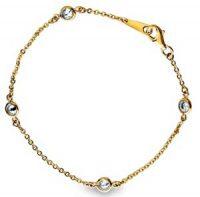 Smykke - gullarmbånd med zirkonia Image