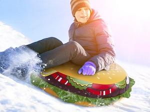 Hamburger oppblåsbar kjelke Image
