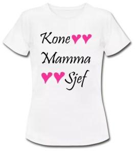 T-skjorte - Kone, mamma og sjef Image