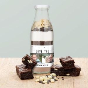 Brownie bakemix med personlig etikett Image