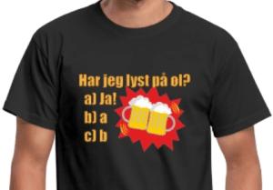 Morsom t-skjorte for øl-elsker Image