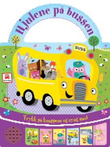 Bok - Hjulene på bussen - Trykk på knappen og syng med Image