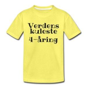 T-skjorte - Verdens kuleste 4-åring Image