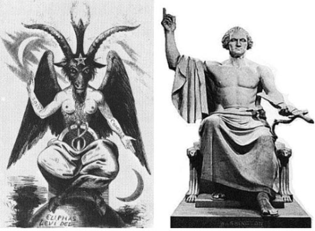 Iluminatis revelados! Illuminati-symbols-Washington-Baphomet