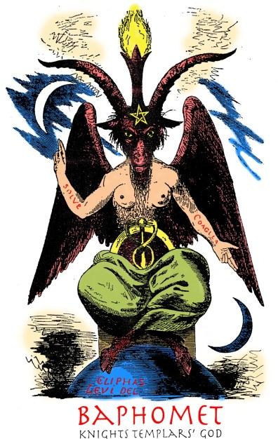 Behemot Baphomet Templários Pentagrama Invertido Bode Maçonaria Significado do bode da maçonaria