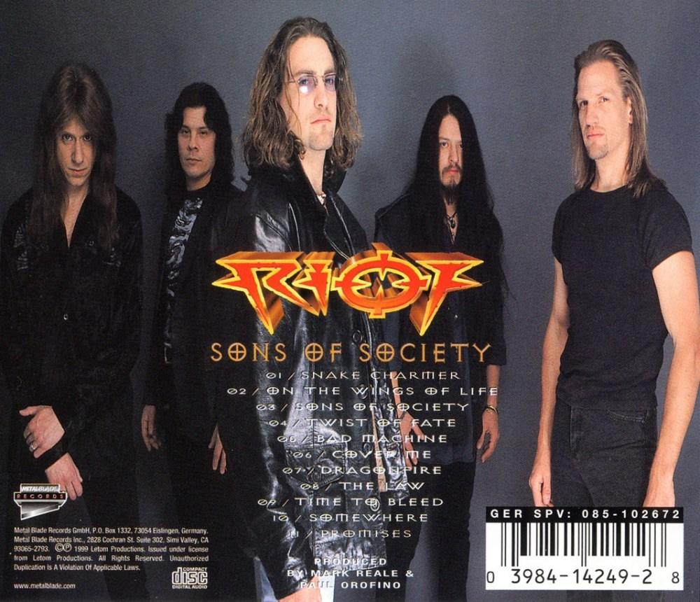 Riot - Sons of Society (Bonus Edition) back