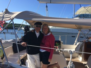 Frances and Jim on Minnehaha (Gozzard G44)