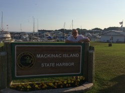 July 9 Dan at Mackinaw Island