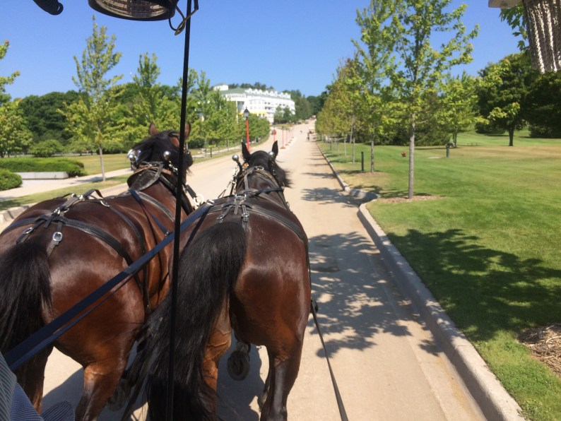 Our ride to the Grand Hotel - perhaps not the most elegant view...