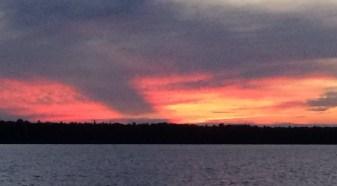 August 8 Gorgeous sunset in Batchawana Bay -Lake Superior