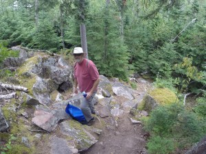 Hiking at Sinclair Cove