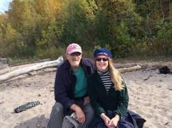 October 10 The beach at Black River Harbor