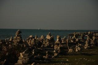 November 11 Village of Inuksuks along the beach in Goderich