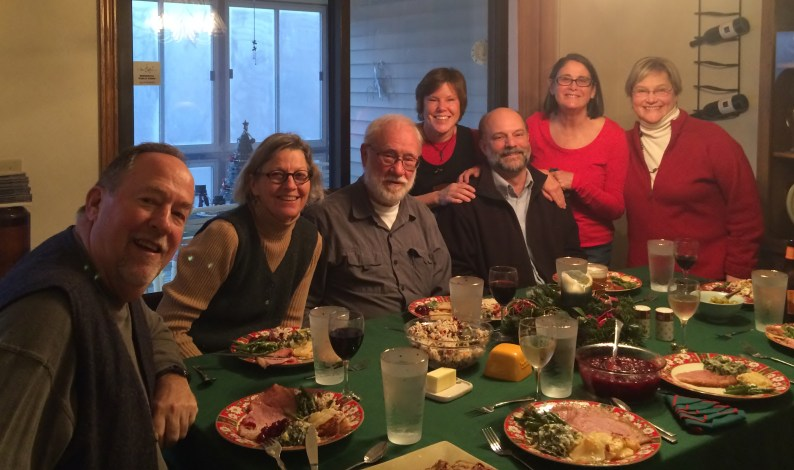 December 25 A sailor's Christmas gathering - Tom, Rose, Larry, Vicki, Paul, and Vicki