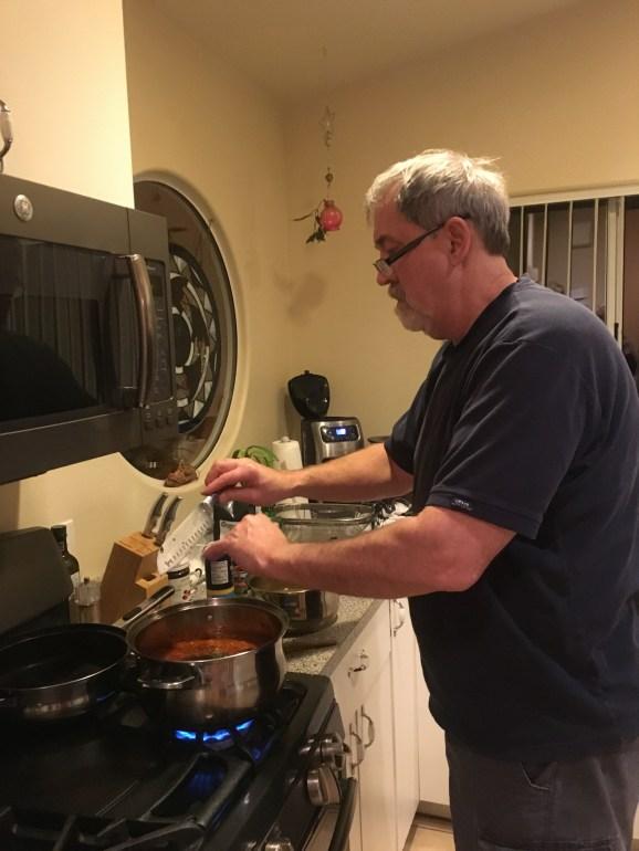 March 2 Dan making fish stock