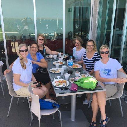 April 17 Enjoying breakfast at Seven Crowns Malecon