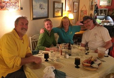 June 17 Dinner with Kevin and Kathy at the Fat Radish, Bayfield WI