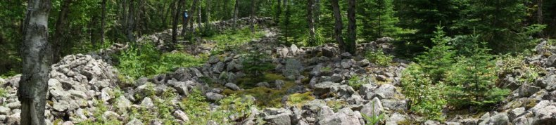 July 15 The large Pukaskwa Pits at the southern end of Otter Island
