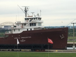 July 26 Watching the big boats come through the Soo Locks