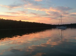 August 4 Sunset at Harbor Island - North Channel Lake Huron