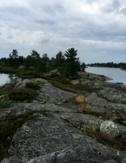 August 20 Hiking along the edge of Fox Harbour