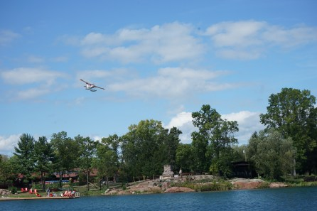 September 4 Float plane landing over Killarney Mountain Lodge