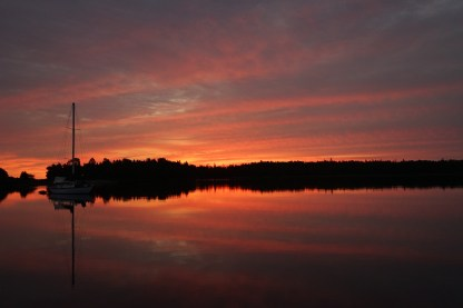 September 10 Windfield Basin Sunrise - Bruce Peninsula Lake Huron