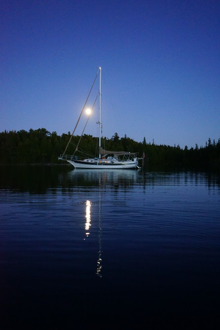 September 13 Moonlight over Cove Island