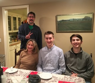 January 8 Dinner with our landlords!