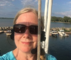 July 14 Up the mast at Pelee Island